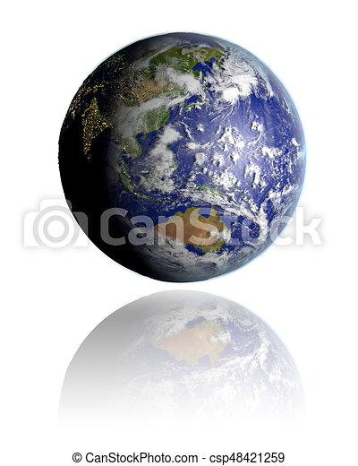 East Asia on globe - csp48421259