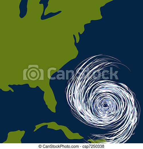 East Coast Hurricane Drawing - csp7250338