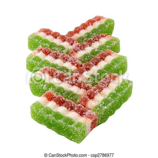 East sweets three-coloured sweets from fruit candy - csp2786977
