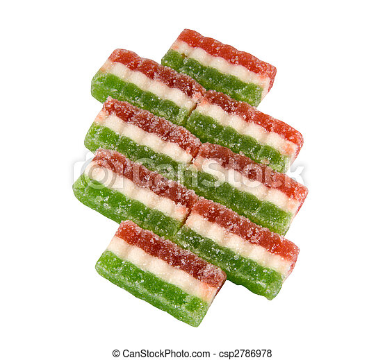 East sweets three-coloured sweets from fruit candy - csp2786978