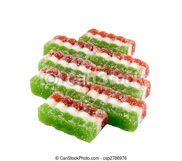 East sweets three-coloured sweets from fruit candy - csp2786976