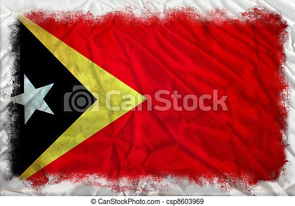 East Timor grunge flag - csp8603969