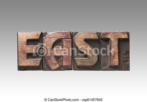 East vintage type - csp61457640