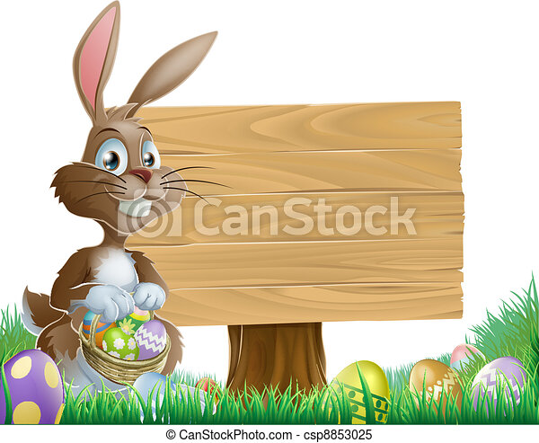 Easter background sign - csp8853025
