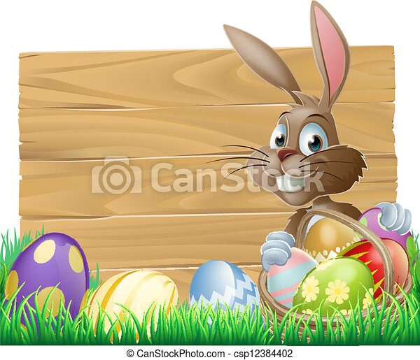 Easter background sign - csp12384402
