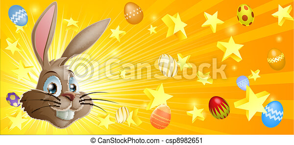 Easter background - csp8982651