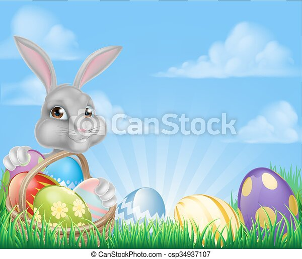 Easter Background - csp34937107