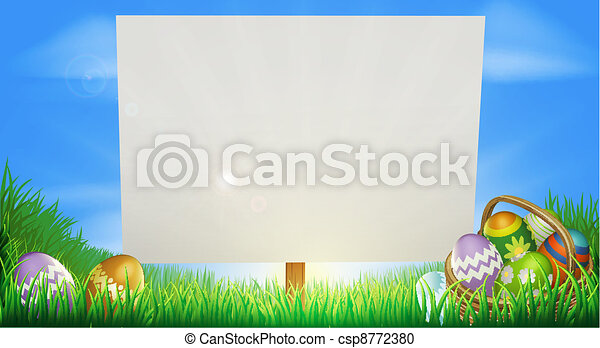Easter background - csp8772380