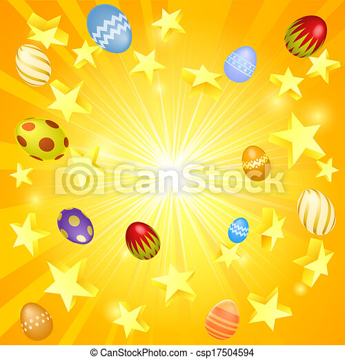 Easter banner background - csp17504594