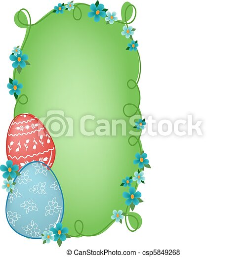 Easter banner with text field - csp5849268