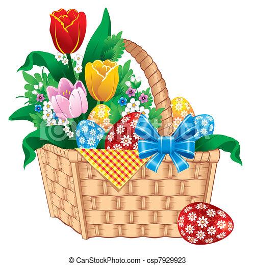 Easter Basket Vector Image Vectors