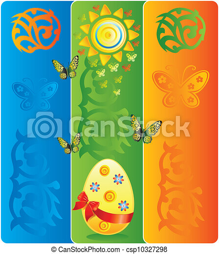 Easter bright background  - csp10327298