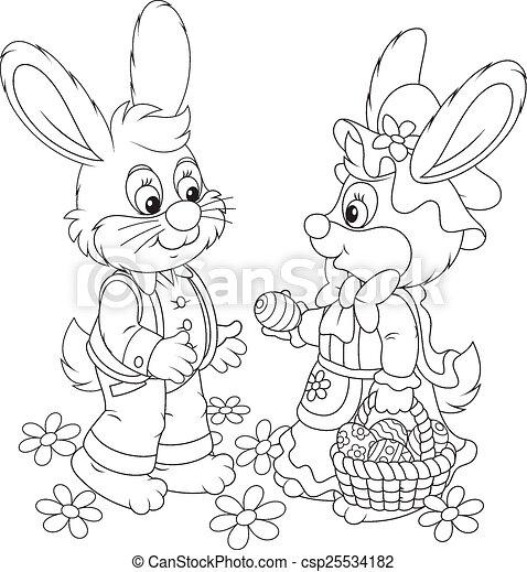 Easter Bunnies - csp25534182