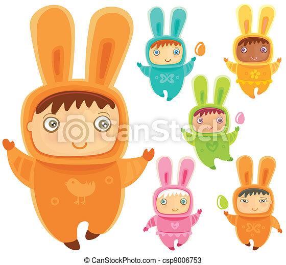 Easter bunnies - csp9006753