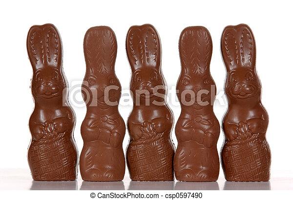 Easter Bunnies - csp0597490