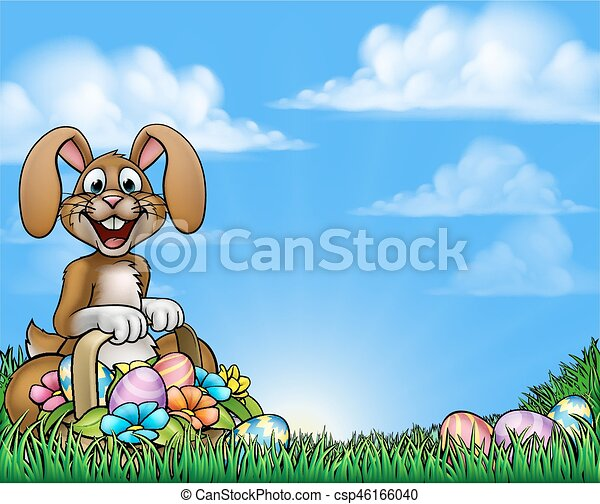 Easter Bunny Background - csp46166040