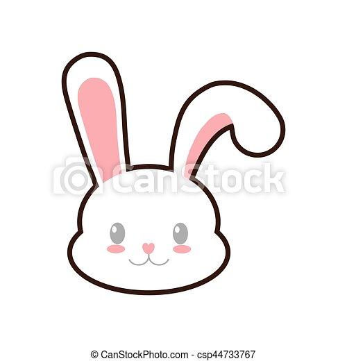 Easter Bunny Cute Face Rabbit Vector