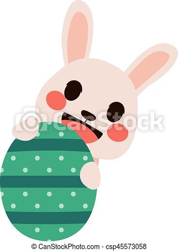 Easter Bunny Egg - csp45573058