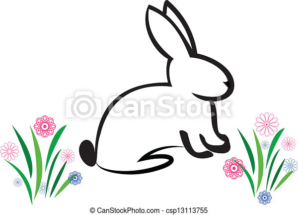 Easter Bunny illustration - csp13113755