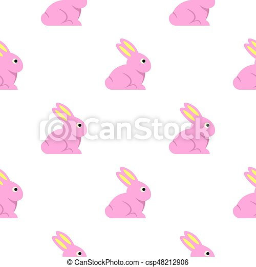 Easter bunny pattern seamless - csp48212906