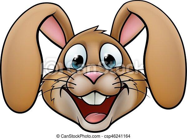 easter bunny rabbit a cartoon rabbit or easter bunny face clip art rh canstockphoto com bunny rabbit clip art for easter bunny rabbit clip art foe easter