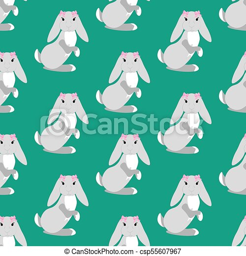 Easter bunny seamless pattern - csp55607967