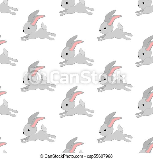 Easter bunny seamless pattern - csp55607968