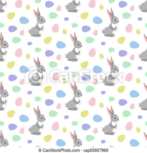 Easter bunny seamless pattern - csp55607969