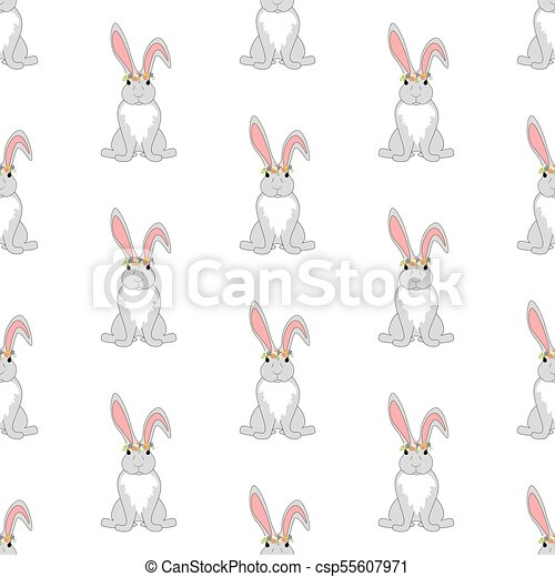 Easter bunny seamless pattern - csp55607971