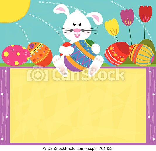 Easter Bunny Sign - csp34761433