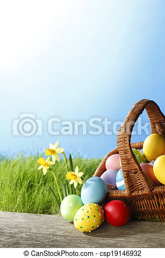Easter card - csp19146932