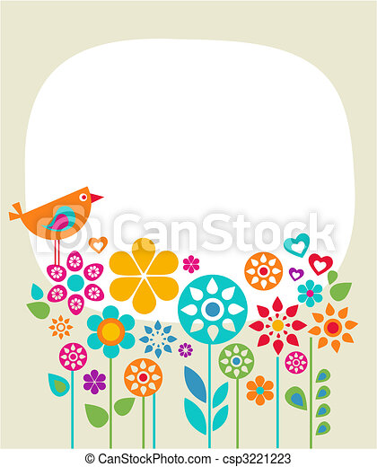 Easter card template - 1 - csp3221223