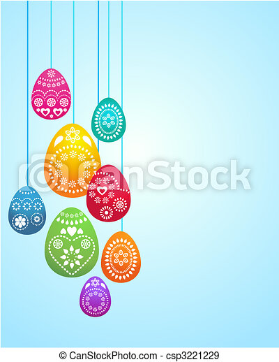 Easter card template - 3 - csp3221229