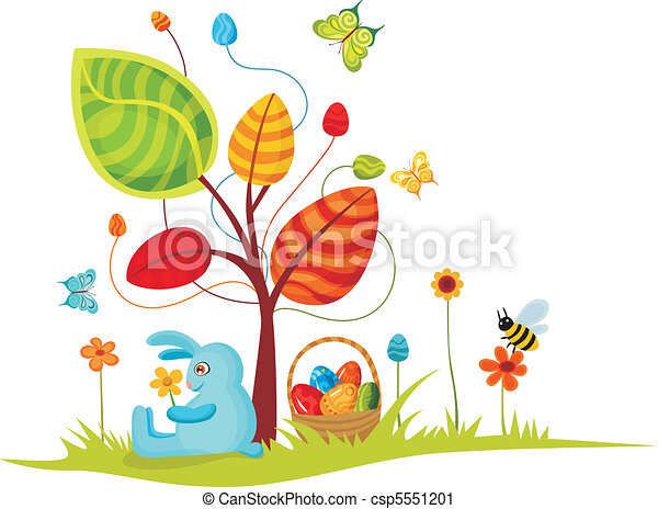 easter card - csp5551201