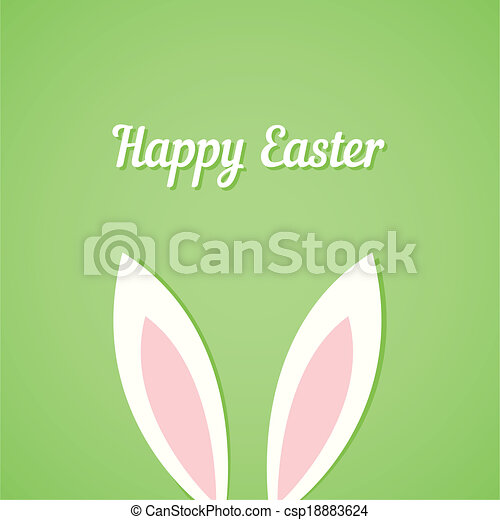 Easter card with ears of bunny - csp18883624