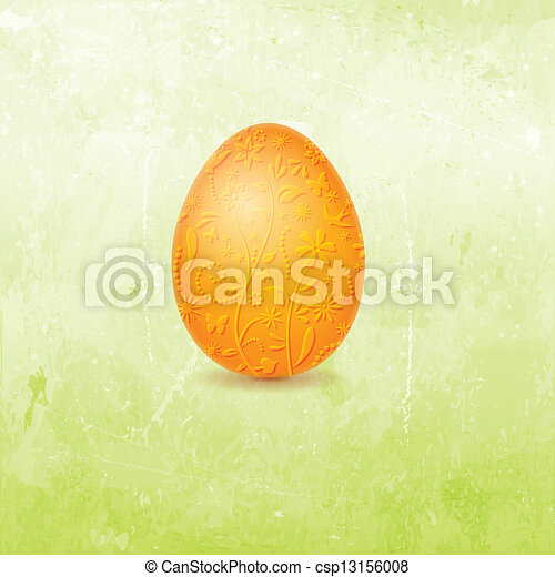 Easter Card with egg - csp13156008