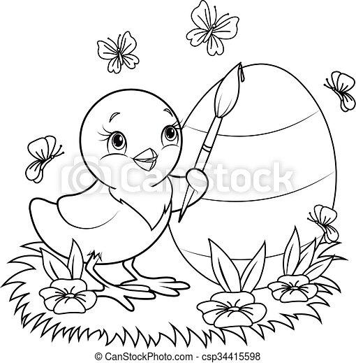 Easter Chicken - csp34415598