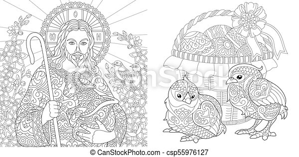 Jesus is Risen... FREE Easter Coloring Page. You can download it ... | 241x450