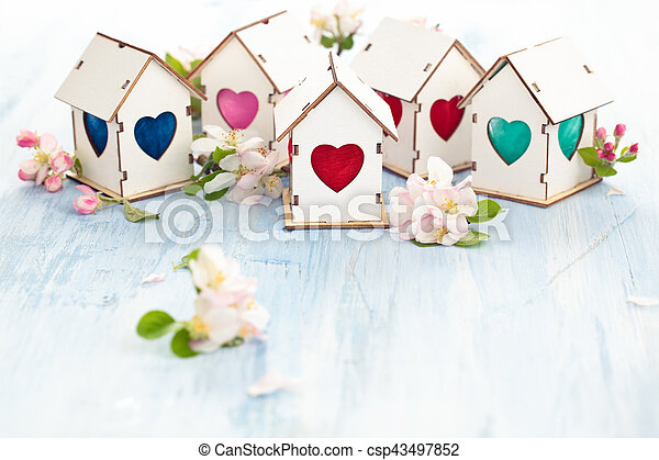 Easter decoration with apple blossom. - csp43497852