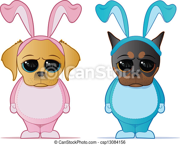 Easter Dogs - csp13084156