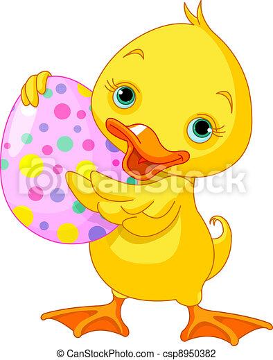 Easter duckling - csp8950382