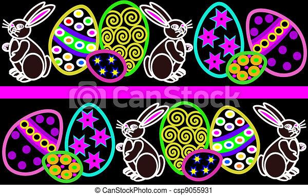 Easter Egg Border 2 Vector