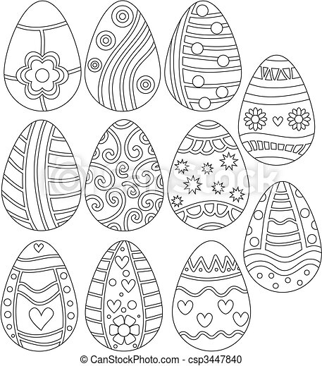 Easter Egg Collection - csp3447840