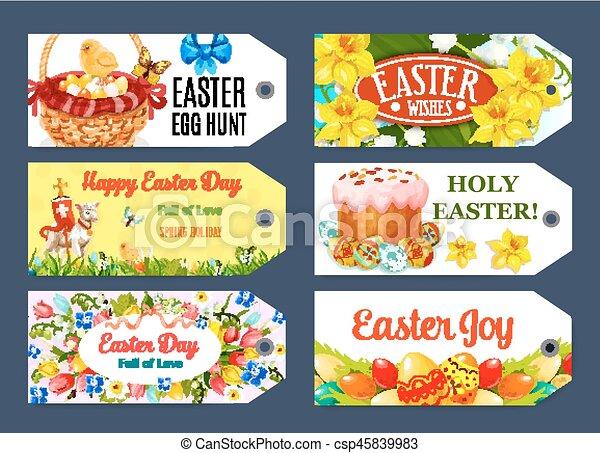 Easter egg hunt gift tag and label set design easter egg vector easter egg hunt gift tag and label set design csp45839983 negle Images