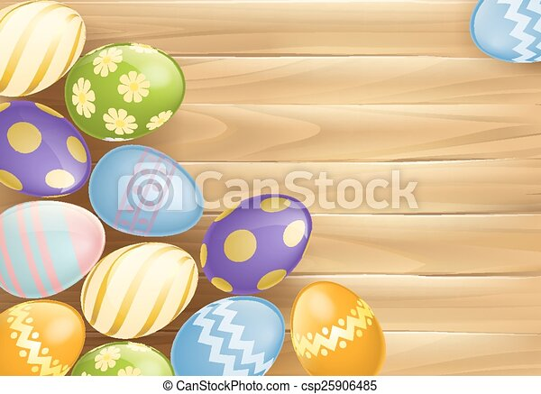 Easter eggs background - csp25906485