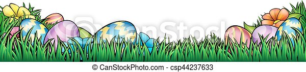 Easter Eggs Background - csp44237633