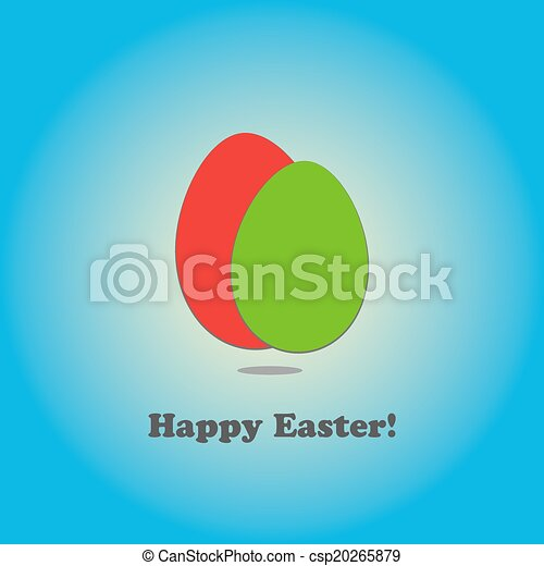 Easter Eggs Background - csp20265879