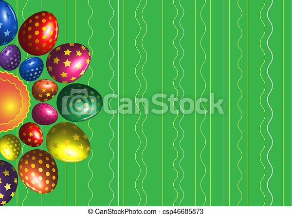 Easter eggs background - csp46685873