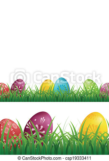 Easter Eggs Background - csp19333411