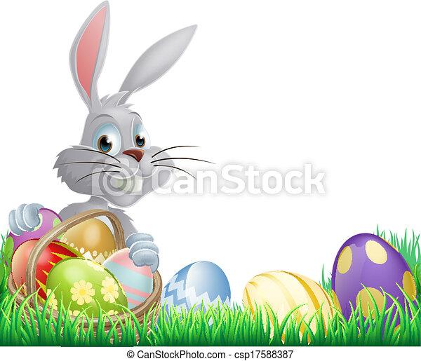 Easter eggs bunny - csp17588387